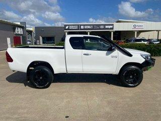 2018 Toyota Hilux GUN126R SR5 Extra Cab White/100418 6 Speed Sports Automatic Utility.