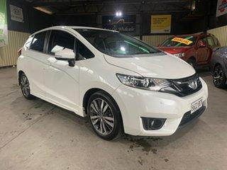 2014 Honda Jazz GK MY15 VTi-S White Continuous Variable Hatchback.