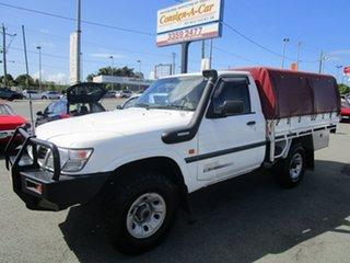 2000 Nissan Patrol GU DX White 5 Speed Manual Cab Chassis.