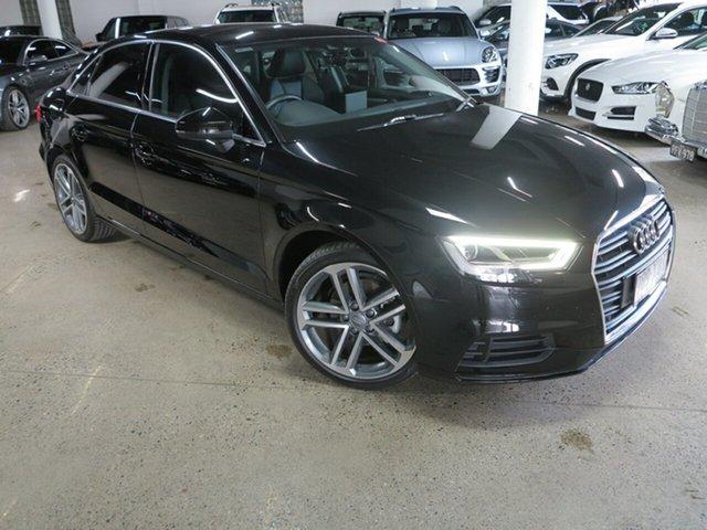 Used Audi A3 8V MY18 S Tronic Albion, 2017 Audi A3 8V MY18 S Tronic Black 7 Speed Sports Automatic Dual Clutch Sedan