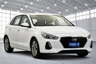 2018 Hyundai i30 PD MY18 Active Polar White 6 Speed Sports Automatic Hatchback.