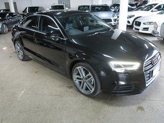 2017 Audi A3 8V MY18 S Tronic Black 7 Speed Sports Automatic Dual Clutch Sedan.