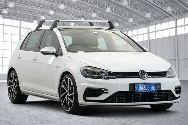 Used Volkswagen Golf 7.5 MY19.5 R DSG 4MOTION Victoria Park, 2019 Volkswagen Golf 7.5 MY19.5 R DSG 4MOTION White 7 Speed Sports Automatic Dual Clutch Hatchback