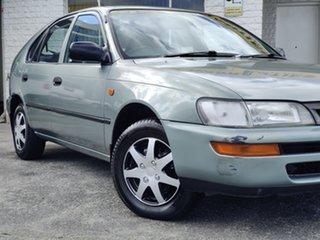 1999 Toyota Corolla AE101R CSi Seca Green 4 Speed Automatic Liftback.