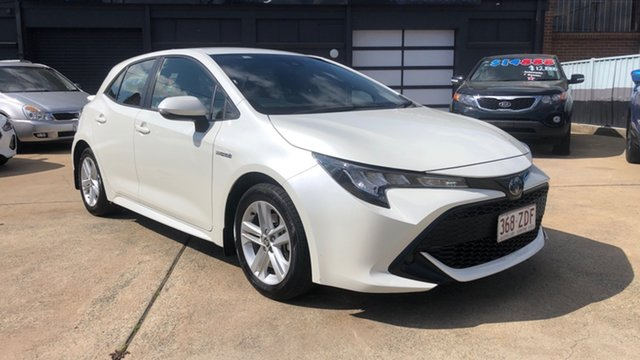 Used Toyota Corolla ZWE211R Ascent Sport Hybrid Phillip, 2019 Toyota Corolla ZWE211R Ascent Sport Hybrid White Continuous Variable Hatchback