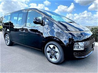 2021 Hyundai Staria US4.V1 MY22 Highlander AWD Abyss Black 8 Speed Sports Automatic Wagon.