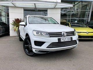 2016 Volkswagen Touareg 7P MY17 Wolfsburg Edition Tiptronic 4MOTION White 8 Speed Sports Automatic.