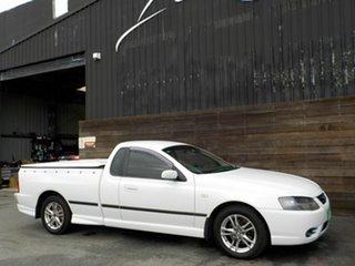 2006 Ford Falcon BF Mk II XL Ute Super Cab White 4 Speed Sports Automatic Utility.