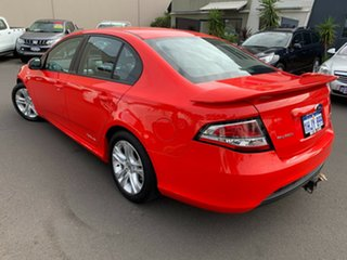 2010 Ford Falcon FG XR6 Red 5 Speed Sports Automatic Sedan.