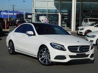 2016 Mercedes-Benz C-Class W205 806+056MY C250 d 7G-Tronic + White 7 Speed Sports Automatic Sedan.