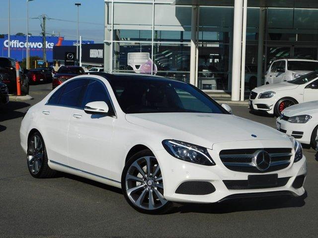 Used Mercedes-Benz C-Class W205 806+056MY C250 d 7G-Tronic + Osborne Park, 2016 Mercedes-Benz C-Class W205 806+056MY C250 d 7G-Tronic + White 7 Speed Sports Automatic Sedan