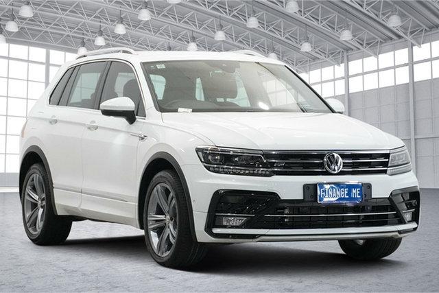 Used Volkswagen Tiguan 5N MY19.5 132TSI DSG 4MOTION R-Line Edition Victoria Park, 2019 Volkswagen Tiguan 5N MY19.5 132TSI DSG 4MOTION R-Line Edition White 7 Speed
