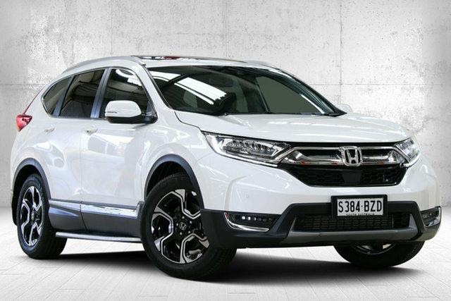 Used Honda CR-V RW MY19 VTi-LX 4WD Valley View, 2018 Honda CR-V RW MY19 VTi-LX 4WD Platinum White 1 Speed Constant Variable Wagon