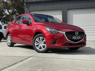 2015 Mazda 2 DL2SA6 Neo SKYACTIV-MT Red 6 Speed Manual Sedan.