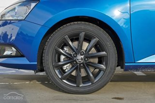 2021 Skoda Fabia NJ MY21 70TSI Run-Out Edition Race Blue 5 Speed Manual Hatchback