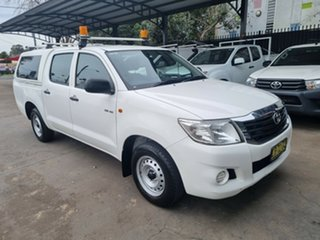 2014 Toyota Hilux GGN15R MY14 SR White 5 Speed Automatic Dual Cab Pick-up.