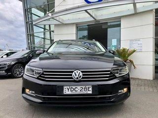2015 Volkswagen Passat 3C (B8) MY16 132TSI DSG Comfortline Deep Black Pearl Effect 7 Speed.