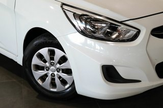 2014 Hyundai Accent RB2 Active White 6 Speed Manual Hatchback.