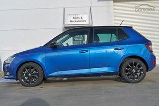 2021 Skoda Fabia NJ MY21 70TSI Run-Out Edition Race Blue 5 Speed Manual Hatchback.