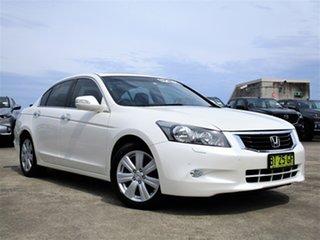 2010 Honda Accord 8th Gen MY10 V6 Luxury White 5 Speed Sports Automatic Sedan.