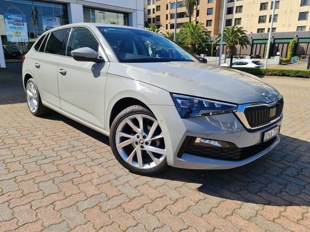 Demo Skoda Scala NW MY21 110TSI DSG Parramatta, 2020 Skoda Scala NW MY21 110TSI DSG Steel Grey 7 Speed Sports Automatic Dual Clutch Hatchback