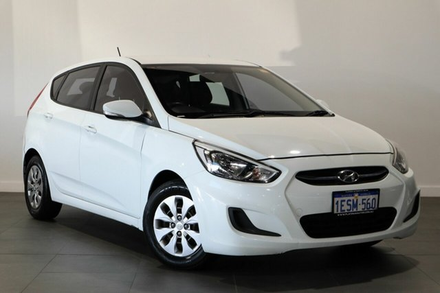 Used Hyundai Accent RB2 Active Bayswater, 2014 Hyundai Accent RB2 Active White 6 Speed Manual Hatchback