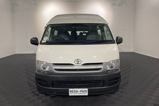 2005 Toyota HiAce TRH223R Commuter High Roof Super LWB White 4 speed Automatic Bus.