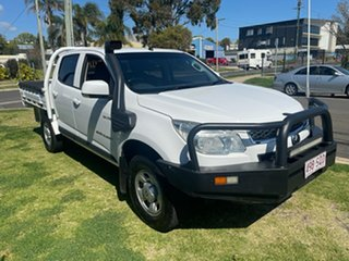 2012 Holden Colorado RG LX (4x4) White 6 Speed Automatic Crew Cab Chassis