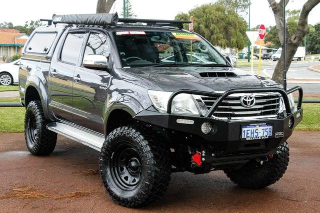 Used Toyota Hilux KUN26R MY12 SR5 Double Cab Attadale, 2013 Toyota Hilux KUN26R MY12 SR5 Double Cab Grey 4 Speed Automatic Utility