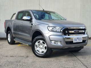 2016 Ford Ranger PX MkII XLT Double Cab 4x2 Hi-Rider Silver 6 Speed Sports Automatic Utility.