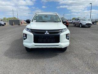 2021 Mitsubishi Triton MR MY22 GLX White 6 Speed Manual Cab Chassis.