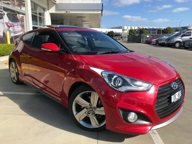 Used Hyundai Veloster FS3 SR Coupe Turbo Ravenhall, 2014 Hyundai Veloster FS3 SR Coupe Turbo Veloster Red 6 Speed Sports Automatic Hatchback