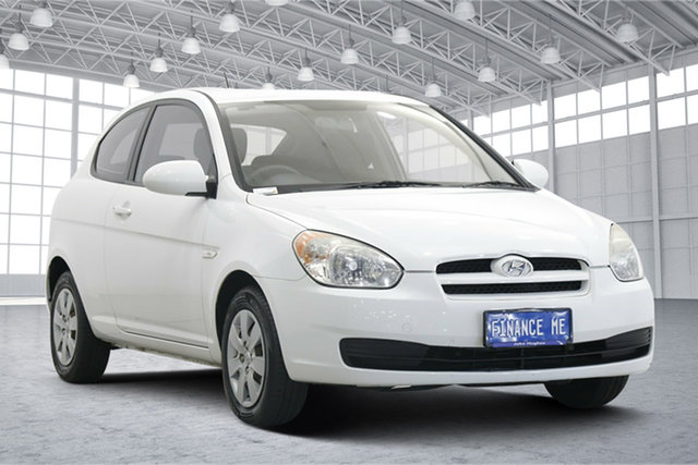 Used Hyundai Accent MC MY07 S Victoria Park, 2009 Hyundai Accent MC MY07 S Noble White 5 Speed Manual Hatchback