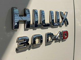 2009 Toyota Hilux KUN26R MY10 SR5 White 4 Speed Automatic Utility