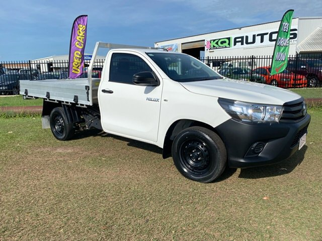 Used Toyota Hilux TGN121R Workmate 4x2 Berrimah, 2018 Toyota Hilux TGN121R Workmate 4x2 White 5 Speed Manual Cab Chassis
