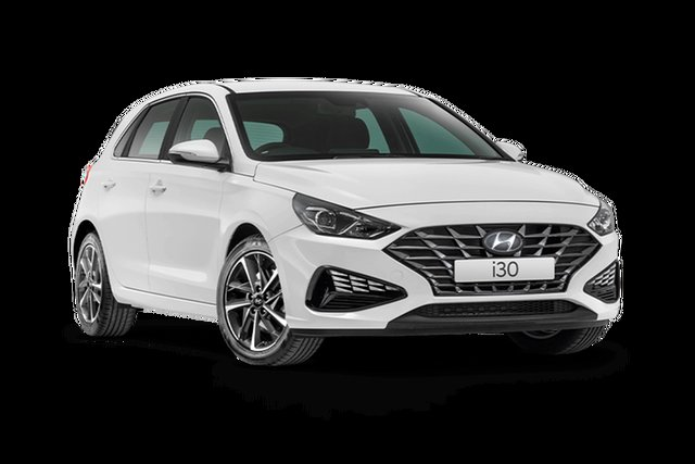 New Hyundai i30 Active Hamilton, 2021 Hyundai i30 PD.V4 Active Polar White 6 Speed Automatic Hatchback