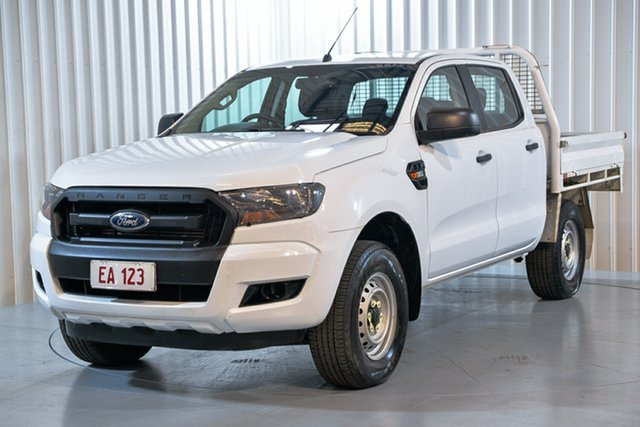 Used Ford Ranger PX MkII MY17 XL 3.2 (4x4) Hendra, 2017 Ford Ranger PX MkII MY17 XL 3.2 (4x4) White 6 Speed Automatic Crew Cab Chassis
