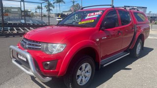 2009 Mitsubishi Triton MN MY10 GL-R Red 4 Speed Automatic Double Cab Utility.