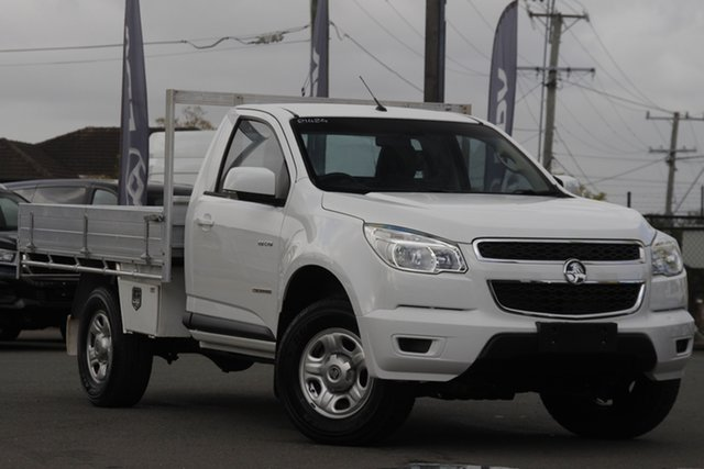 Used Holden Colorado RG MY14 LX 4x2 Rocklea, 2014 Holden Colorado RG MY14 LX 4x2 Summit White 6 Speed Manual Cab Chassis