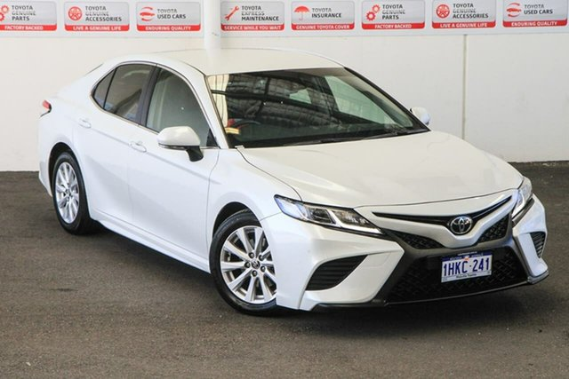 Pre-Owned Toyota Camry ASV70R Ascent Sport Myaree, 2020 Toyota Camry ASV70R Ascent Sport Frosted White 6 Speed Sports Automatic Sedan