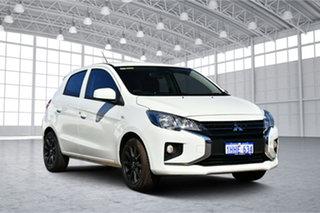 2021 Mitsubishi Mirage LB MY22 ES White 5 Speed Manual Hatchback.