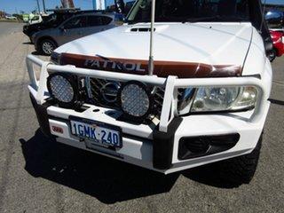 2007 Nissan Patrol GU VI ST (4x4) White 4 Speed Automatic Wagon.