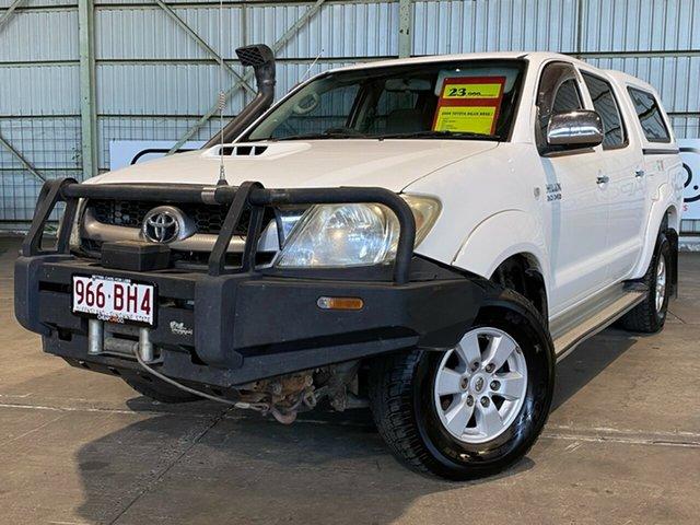 Used Toyota Hilux KUN26R MY10 SR5 Rocklea, 2009 Toyota Hilux KUN26R MY10 SR5 White 4 Speed Automatic Utility