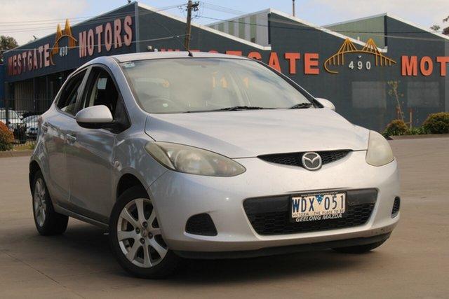 Used Mazda 2 DY MY05 Upgrade Maxx West Footscray, 2007 Mazda 2 DY MY05 Upgrade Maxx Silver 5 Speed Manual Hatchback