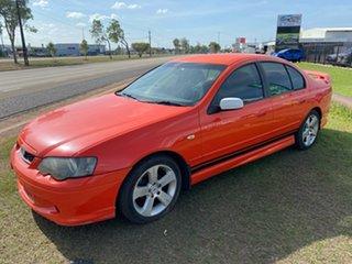 2003 Ford Falcon BA XR6 Orange 4 Speed Sports Automatic Sedan.