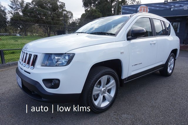 Used Jeep Compass MK MY13 Sport CVT Auto Stick Dandenong, 2013 Jeep Compass MK MY13 Sport CVT Auto Stick Bright White 6 Speed Constant Variable Wagon