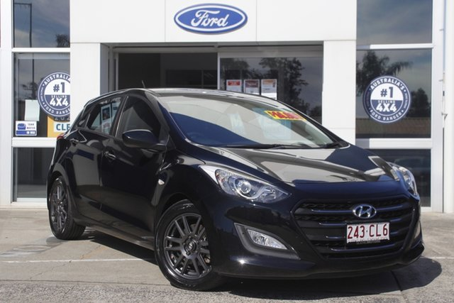 Used Hyundai i30 GD4 Series II MY17 Active Beaudesert, 2017 Hyundai i30 GD4 Series II MY17 Active Phantom Black 6 Speed Sports Automatic Hatchback