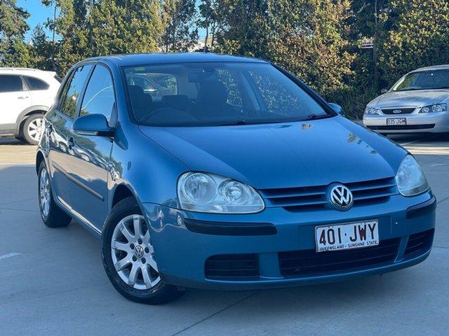 Used Volkswagen Golf V Comfortline Tiptronic Toowoomba, 2006 Volkswagen Golf V Comfortline Tiptronic Blue 6 Speed Sports Automatic Hatchback