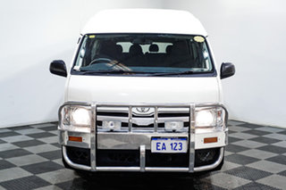 2013 Toyota HiAce KDH223R MY12 Commuter High Roof Super LWB White 4 Speed Automatic Bus.