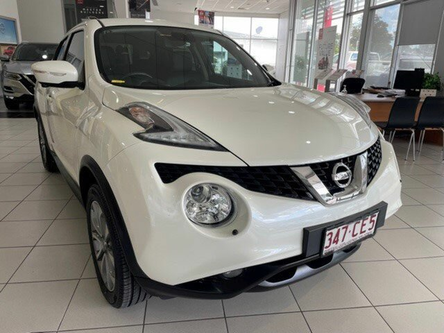 Used Nissan Juke F15 Series 2 Ti-S X-tronic AWD Mount Gravatt, 2017 Nissan Juke F15 Series 2 Ti-S X-tronic AWD White 1 Speed Constant Variable Hatchback